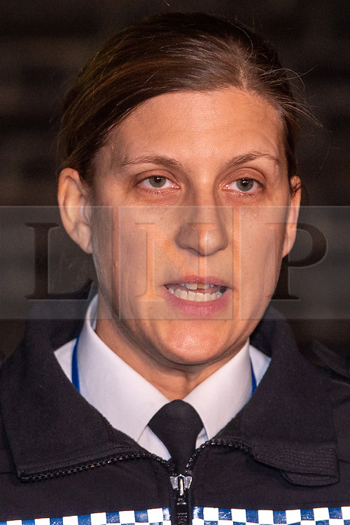 © Licensed to London News Pictures. 02/12/2019. Loughton, UK. Chief Superintendent Tracey Harman from Essex Police holds a media briefing outside Loughton Police Station.<br /> A murder investigation has been launched after a 12-year-old boy died and a number of other pedestrians were injured during a hit-and-run incident near a school on Wallingale Road, Loughton. Photo credit: Peter Manning/LNP