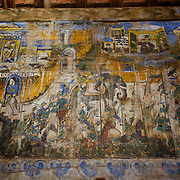 Mural paintings at Wat Phra Tat Lampang Luang, Lampang, Thailand.