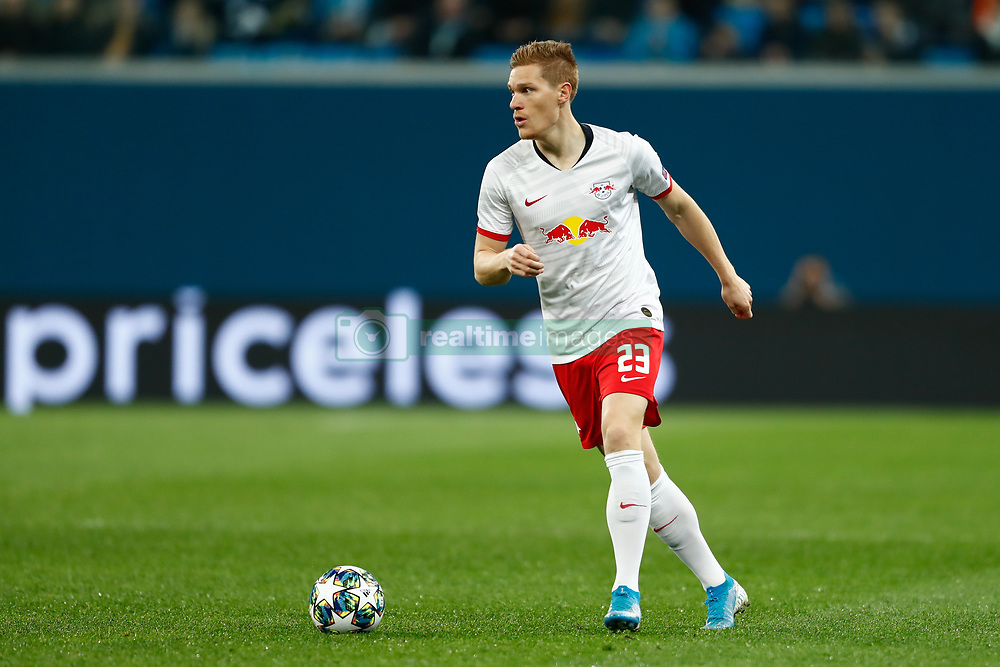 November 4, 2019, Saint Petersburg, USA: SAINT PETERSBURG, RUSSIA - NOVEMBER 05: defender Marcel Halstenberg of RB Leipzig during UEFA Champions League match FC Leipzig at FC Zenit on November 05, 2019, at Saint Petersburg Stadium in Saint Petersburg, Russia. (Photo by Anatoliy Medved/Icon Sportswire) (Credit Image: © Anatoliy Medved/Icon SMI via ZUMA Press)