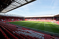 A general view of the stadium before the Barclays Premier League match at Anfield, Liverpool<br /> Picture by Russell Hart/Focus Images Ltd 07791 688 420<br /> 22/03/2015