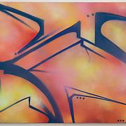"""Spray Paint on Canvas, 36""""x60"""""""