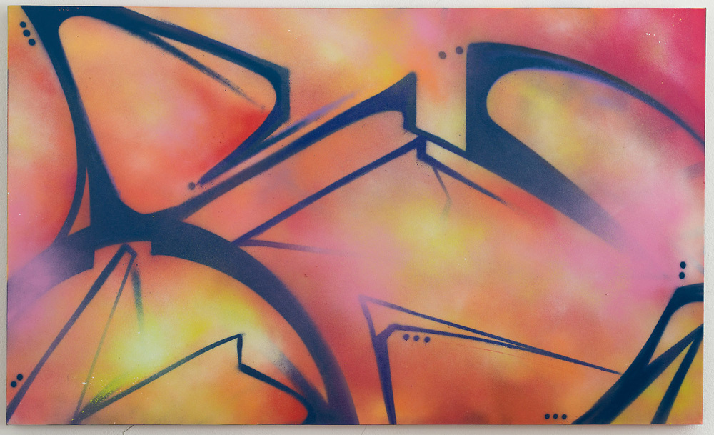 "Spray Paint on Canvas, 36""x60"""