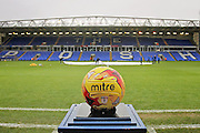 The match ball before the EFL Sky Bet League 1 match between Peterborough United and Chesterfield at London Road, Peterborough, England on 10 December 2016. Photo by Nigel Cole.