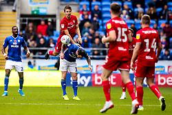Adam Nagy of Bristol City beats Lee Tomlin of Cardiff City to a header - Mandatory by-line: Robbie Stephenson/JMP - 10/11/2019 -  FOOTBALL - Cardiff City Stadium - Cardiff, Wales -  Cardiff City v Bristol City - Sky Bet Championship