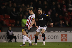 February 13, 2019 - Sheffield, South Yorkshire, United Kingdom - SHEFFIELD, UK 13TH FEBRUARY Kieran Dowell of Sheffield United and Jonathan Howson of Middlesbrough  during the Sky Bet Championship match between Sheffield United and Middlesbrough at Bramall Lane, Sheffield on Wednesday 13th February 2019. (Credit: Mark Fletcher | MI News) (Credit Image: © Mi News/NurPhoto via ZUMA Press)