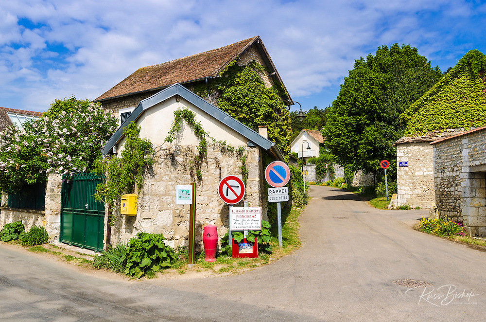 Street corner, Giverny, Normandy, France