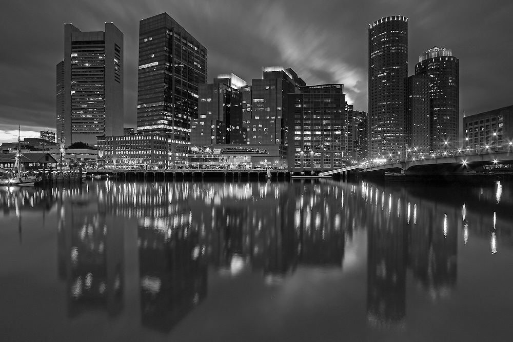 Photo prints, canvas prints, metal prints, framed prints, matted prints, print only at <br /> <br /> http://juergen-roth.pixels.com/featured/1-boston-night-lights-juergen-roth.html