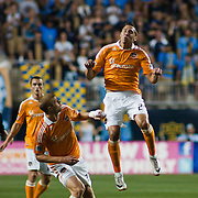 Dynamo Midfielder Geoff Cameron #20 tries to make a play for the ball during Saturday MLS regular season match. <br /> <br /> The Dynamo and The Philadelphia Union played to a 1-1 tie. Saturday Aug. 6, 2011, at PPL Park in Chester PA...The News Journal/SAQUAN STIMPSON