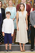071218 Queen Letizia attends audiences at Zarzuela Palace