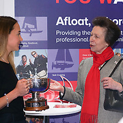 HRH Princess Anne presents Yacht Master of the Year to Zara Roberts of the London Boat Show at Excel London  11th January 2017,London,UK. by See Li