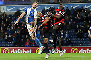 Nedum Onuoha during the Sky Bet Championship match between Blackburn Rovers and Queens Park Rangers at Ewood Park, Blackburn, England on 12 January 2016. Photo by Pete Burns.