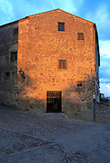 Late evening sunshine on historic monastery building medieval town of Trujillo, Caceres province, Extremadura, Spain
