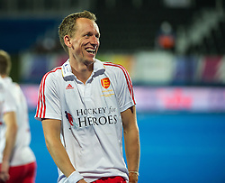 England's Dan Fox. England v Spain - Unibet EuroHockey Championships, Lee Valley Hockey & Tennis Centre, London, UK on 25 August 2015. Photo: Simon Parker