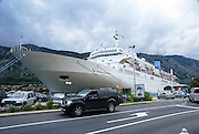Kotor, Montenegro cruise ship docked in the port