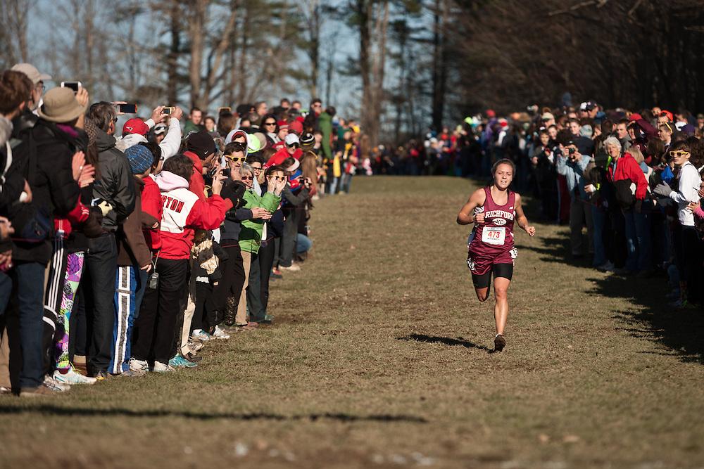 New England High School XC Championship winner Elle Purrier, Richford, VT, homestretch