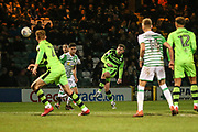 Forest Green Rovers Dayle Grubb(8) shoots at goal misses the target during the EFL Trophy 3rd round match between Yeovil Town and Forest Green Rovers at Huish Park, Yeovil, England on 9 January 2018. Photo by Shane Healey.