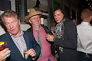 BOB AND ROBERTA SMITH; BRIDGET NICHOLLS, The artists party hosted by the Art Fund and Jeremy Deller. Caravan, King's Cross. Granary Sq. London. 23 September 2013.