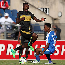 DURBAN, SOUTH AFRICA - MAY 01: Sibusiso Masina of Cape Town City and Mlondi Dlamini of Maritzburg Utd during the Absa Premiership match between Maritzburg United and Cape Town City FC at Harry Gwala Stadium on May 01, 2017 in Durban, South Africa. (Photo by Steve Haag/Gallo Images)