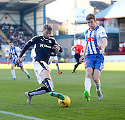Dundee&rsquo;s Rory Loy takes on Kilmarnock&rsquo;s Stuart Findlay  - Dundee v Kilmarnock, Ladbrokes Premiership at Dens Park <br /> <br />  - &copy; David Young - www.davidyoungphoto.co.uk - email: davidyoungphoto@gmail.com