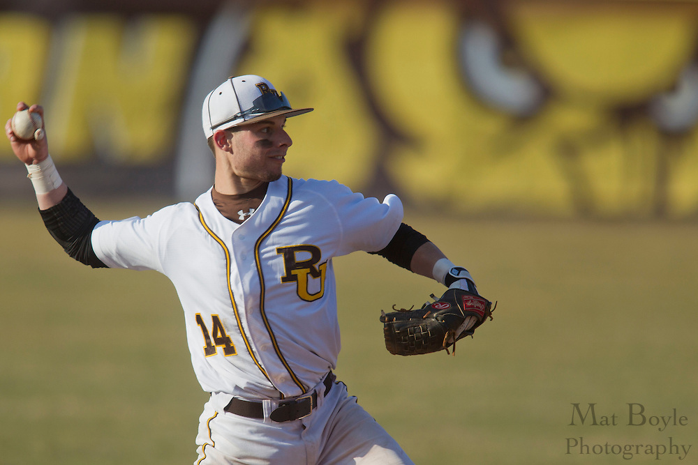Rowan University Senior Infielder Captain Marc Magliaro (14); Rowan University Baseball hosts John Hopkins University  on Tuesday March 6, 2012 in Glassboro, NJ. (photo / Mat Boyle)