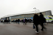 Fans start arriving at the stadium before the EFL Sky Bet Championship match between Brighton and Hove Albion and Ipswich Town at the American Express Community Stadium, Brighton and Hove, England on 14 February 2017.