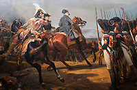 Palace of Versailles. Tapestry of Napoleon on the battlefield