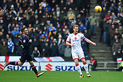 Milton Keynes Dons defender Dean Lewington (3) looks to release the ball during the EFL Sky Bet League 1 match between Milton Keynes Dons and Portsmouth at stadium:mk, Milton Keynes, England on 10 February 2018. Picture by Dennis Goodwin.