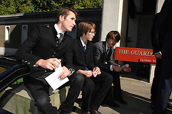 Bryan Ferry's sons OTIS, TARA & MERLIN (?)at the memorial service of Isabella Blow held at the Guards Chapel, London W1 on 18th September 2007.<br /><br />NON EXCLUSIVE - WORLD RIGHTS