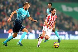 Joe Allen of Stoke City runs with the ball - Mandatory by-line: Robbie Stephenson/JMP - 31/10/2016 - FOOTBALL - Bet365 Stadium - Stoke-on-Trent, England - Stoke City v Swansea City - Premier League