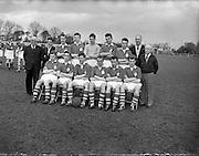 09/04/1956<br /> 04/09/1956<br /> 09 April 1956<br />  Soccer Interprovincial Schoolboys: Leinster v Ulster at Whitehall, Dublin. The Ulster team.