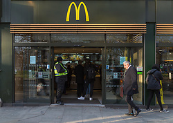 After continual problems with violence, drugs and antisocial behaviour McDonal's on Uxbridge Road has taken action to alleviate the issue by playing classical music and switching off its free wifi after 3pm, as well as beefing up the security by hiring more pro-active, visible door personnel. Police and franchise operator Atul Pathak have subsequently seen a decrease in these problems. London, March 13 2018.