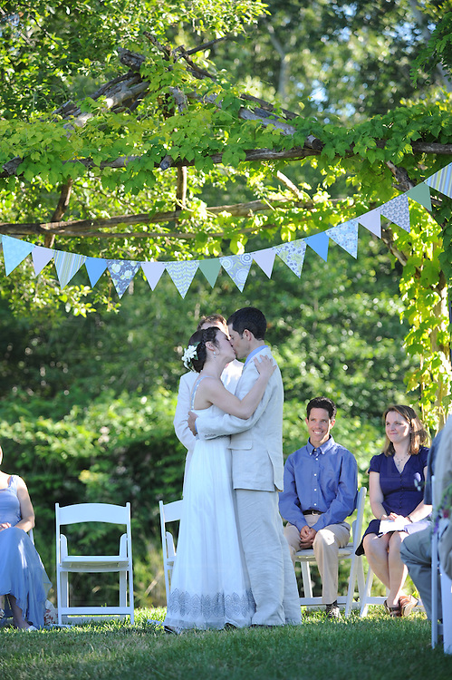 Megan Lillis and Malcolm Dunn get married at Mill Creek Gardens in Walla Walla, Washington.