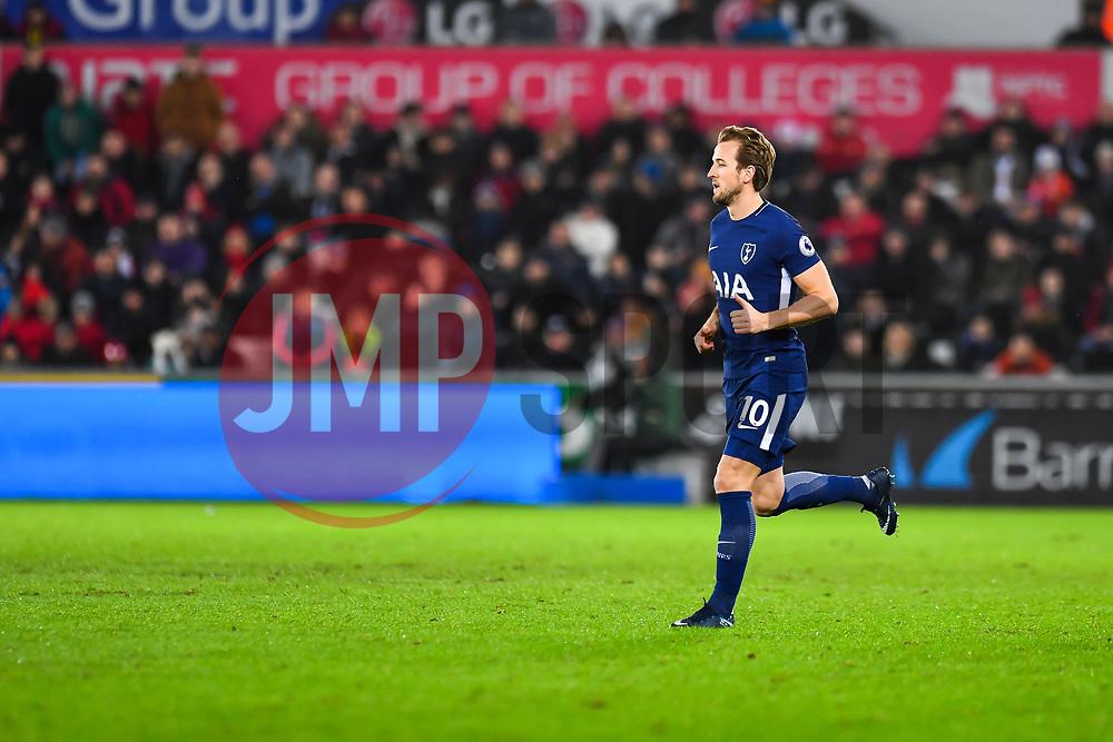 Harry Kane of Tottenham Hotspur - Mandatory by-line: Craig Thomas/JMP - 02/01/2018 - FOOTBALL - Liberty Stadium - Swansea, England - Swansea City v Tottenham Hotspur - Premier League