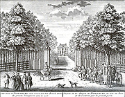 Driveway Velsen located under the 'Papenburg House ', formerly 'Groeneveen' about 1740 belonged to the Amsterdammer, Gerard Pape Broeck.