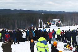 15.02.2015,  Karlstad, SWE, FIA, WRC, Schweden Rallye, im Bild Jari-Matti Latvala/Miikka Anttila (Volkswagen Motorsport/Polo R WRC) // during the WRC Sweden Rallye at the Karlstad in Karlstad, Sweden on 2015/02/15. EXPA Pictures &copy; 2015, PhotoCredit: EXPA/ Eibner-Pressefoto/ Bermel<br /> <br /> *****ATTENTION - OUT of GER*****