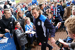 Michael Hefele of Huddersfield Town is greeted by fans on arrival at the stadium - Mandatory by-line: Matt McNulty/JMP - 18/02/2017 - FOOTBALL - The John Smith's Stadium - Huddersfield, England - Huddersfield Town v Manchester City - Emirates FA Cup fifth round