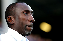 Queens Park Rangers manager Jimmy Floyd Hasselbaink - Mandatory by-line: Robbie Stephenson/JMP - 10/08/2016 - FOOTBALL - Loftus Road - London, England - Queens Park Rangers v Swindon Town - EFL League Cup