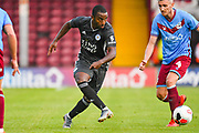 Ricardo Pereira of Leicester City (21) passes the ball during the Pre-Season Friendly match between Scunthorpe United and Leicester City at Glanford Park, Scunthorpe, England on 16 July 2019.