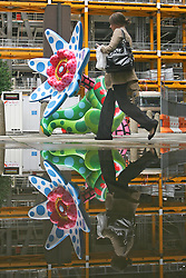 © Licensed to London News Pictures. 06/06/2012. London,Britain.Unveiling of  sculptures today 18 June in London's Square Mile by artists Michael Craig-Martin, Julian Opie, Thomas Houseago, Yayoi Kusama, Tracey Emin, Angus Fairhirst and Dan Graham .  Photo credit : Thomas Campean/LNP...