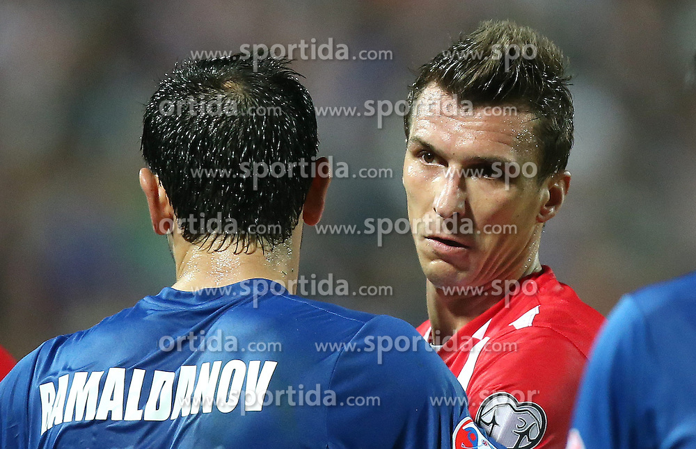 13.10.2014, Stadion Gradski vrt, Osijek, CRO, UEFA Euro Qualifikation, Kroatien vs Aserbaidschan, Gruppe H, im Bild Mario Mandzukic // during the UEFA EURO 2016 Qualifier group H match between Croatia and Azerbaijan at the Stadion Gradski vrt in Osijek, Croatia on 2014/10/13. EXPA Pictures &copy; 2014, PhotoCredit: EXPA/ Pixsell/ Igor Kralj<br /> <br /> *****ATTENTION - for AUT, SLO, SUI, SWE, ITA, FRA only*****