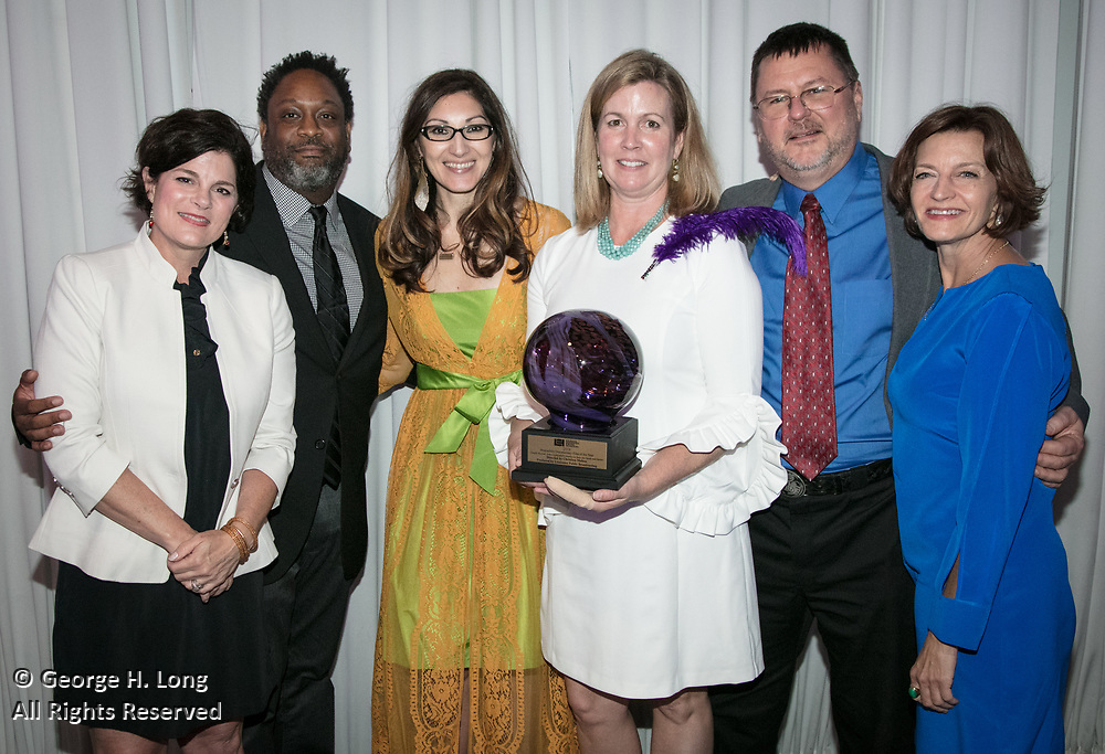 Christina Melton at Louisiana Endowment for the Humanities Bright Lights Awards Dinner at Popp Fountain in City Park of New Orleans on May 10, 2018
