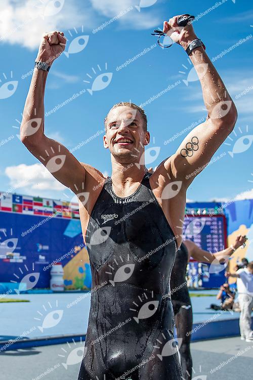 RYAN Sean USA<br /> Open Water 10km Men - Kazanka River<br /> Day04 27/07/2015<br /> XVI FINA World Championships Aquatics Swimming<br /> Kazan Tatarstan RUS July 24 - Aug. 9 2015 <br /> Photo A.Masini/Deepbluemedia/Insidefoto