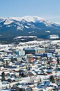 Downtown Whitehorse, Yukon, Canada in winter.