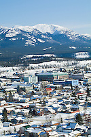 Downtown Whitehorse, Yukon, Canada in winter.