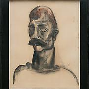 Constant Permeke<br /> &quot;De Gendarme&quot; 1924<br />  Drawing on paper<br /> Bauhaus lijst 105018