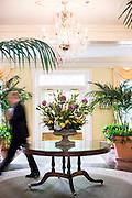The lobby of the Carolina Inn.