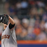 Pitcher Tim Lincecum, San Francisco Giants pitching  during the New York Mets Vs San Francisco Giants MLB regular season baseball game at Citi Field, Queens, New York. USA. 11th June 2015. Photo Tim Clayton