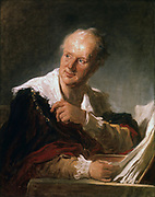 Denis Diderot (1713-1784) French man of letters and encyclopaedist.  Portrait by Jean Honore Fragonard (1732-1806) Oil on canvas.