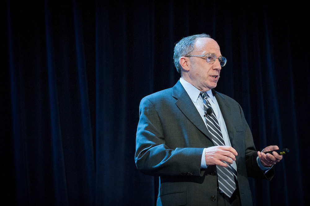 "Dr. Barry Pallotta, Program Manager in DARPA's Biological Technologies Office (BTO), delivers a keynote address at DARPA's ""Biology is Technology"" symposium in New York City on June 23, 2015. The two-day event was held by DARPA's Biological Technologies Office to bring together leading-edge technologists, start-ups, industry, and academic researchers to look at how advances in engineering and information sciences can be used to drive biology for technological advantage."