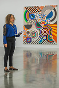 'Rio Azul' by Beatriz Milhazes (pictured with Goa, 2017) at White Cube Bermondsey. Her first solo show in London for almost a decade features new paintings, installation, sculpture, collage and live performance, as well as her first ever tapestry.